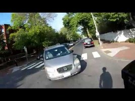 Cycling commute narrowly avoided collision - 42XK36 - YouTube