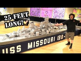 Gigantic LEGO WWII Battleship USS Missouri by Brickmania - YouTube